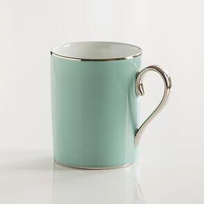 Porcelaine de Limoges Frühstücksbecher Mintgrün