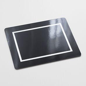 4 Tischsets 45 x 35 cm Black/Silver