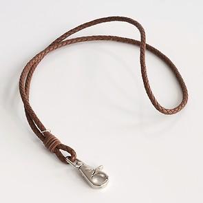 Schlüsselband aus Leder Hellbraun