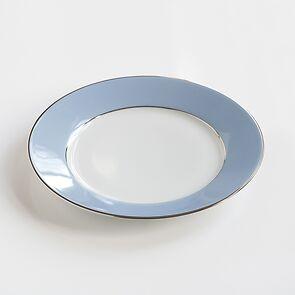 Porcelaine de Limoges Mittlerer Teller Eisblau