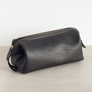 Hammann Riesen-Kulturtasche aus Stierleder Dunkelbraun