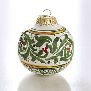 Keramikkugel Wintergrün