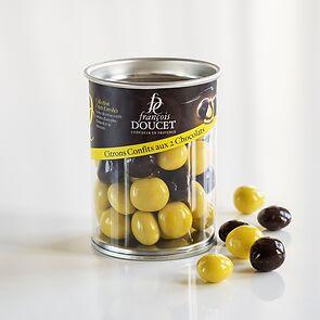 Schokoladenfrüchte Zitrone