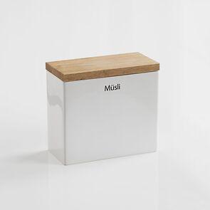 Müsli-Vorratsdose mit Holzdeckel