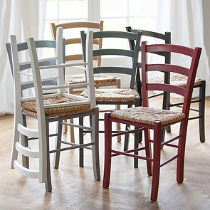 Binsengeflecht-Stuhl