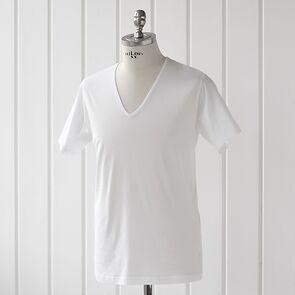 Sunspel T-Shirt mit V-Ausschnitt