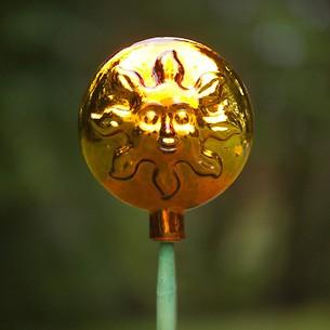 Lauschaer Rosenkugel Sonne/Mond gold