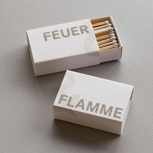 2 Schachteln Zündhölzer 'Feuer & Flamme'