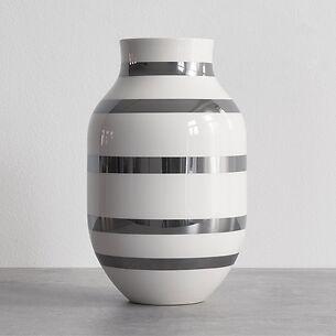 Omaggio Vase 31 cm Höhe Silber