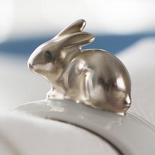 Hasen Servietten Ring Silber