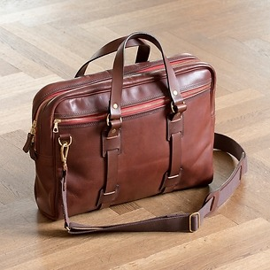 Croots Vintage Leather Laptop Bag Port