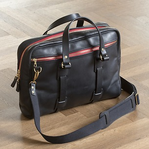 Croots Vintage Leather Laptop Bag Black