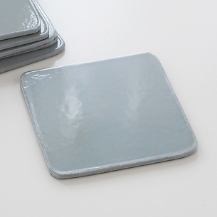 6 Untersetzer 10,5 x 10,5 cm Grey/Silver