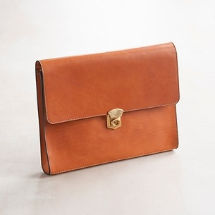 Underarm Document Case aus Stierleder Cognac