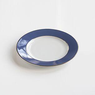 Porcelaine de Limoges Kuchenteller Platindekor Franz. Blau
