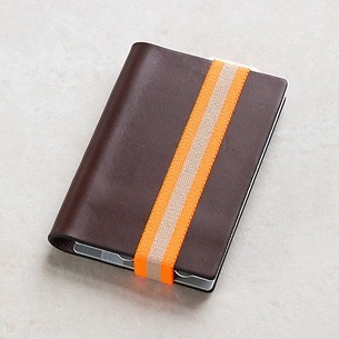 Q7 Wallet Smooth Brown/Orange