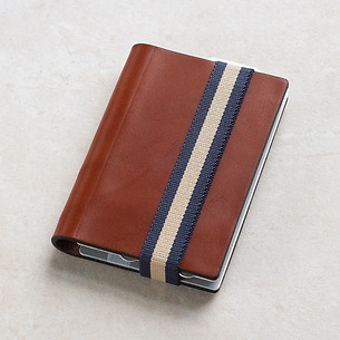Q7 Wallet Smooth Cognac/Blue