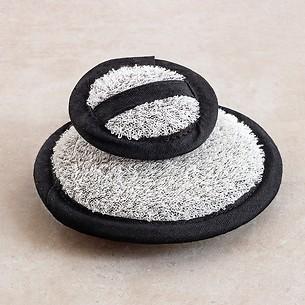 Leinen-Baumwoll-Waschpads Grau