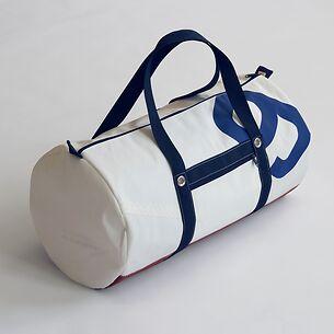 Tasche aus Segeltuch groß mit  blauer Nummer