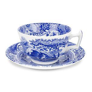 Spode Blue Italian Teetasse mit Untertasse