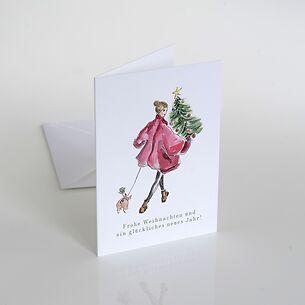 Weihnachtskarte: Schweinchen