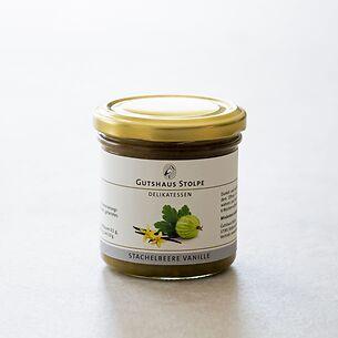 Gutshaus Stolpe: Fruchtaufstrich Stachelbeere Vanille 167 g