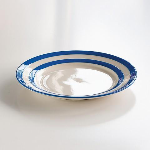 4 Mittlere Teller Cornishware Blau