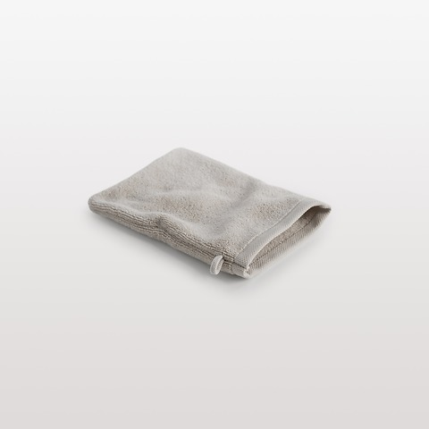 Torquato WHITE Waschhandschuh Kitt 16 x 22 cm