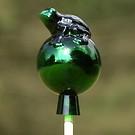 Lauschaer Rosenkugel Grüner Frosch