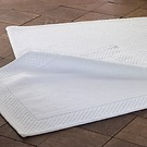 Torquato Badevorleger Rahmen Weiß