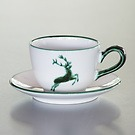 Grüner Hirsch Teetasse