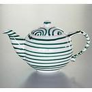 Grüngeflammt Teekanne