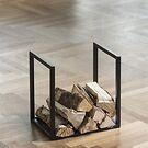 Kaminholz-Ständer Zurs schwarz lackiert, 40 x 30 x 40 cm