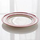 4 Große Teller Cornishware Rot