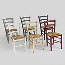Binsengeflecht - Stuhl