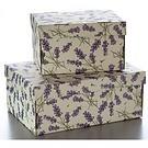 Rossi Geschenkkarton Florentiner Papier Lavendel