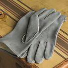 Handschuhe aus Rehleder Grau