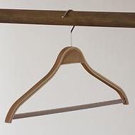 Schichtholzbügel mit Steg