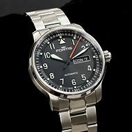 Fortis Flieger Professional Armbanduhr mit Metallarmband