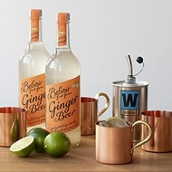 Moscow Mule Cocktail-Set mit 4 Kupferbechern