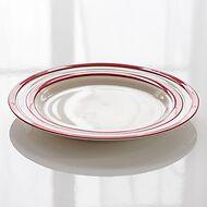 4 Mittlere Teller Cornishware Rot