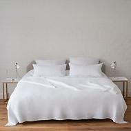 Bettüberwurf Waffelpiqué Weiß