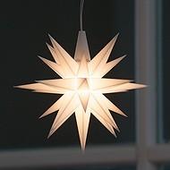 Kleiner Herrnhuter Stern aus Kunststoff (LED)