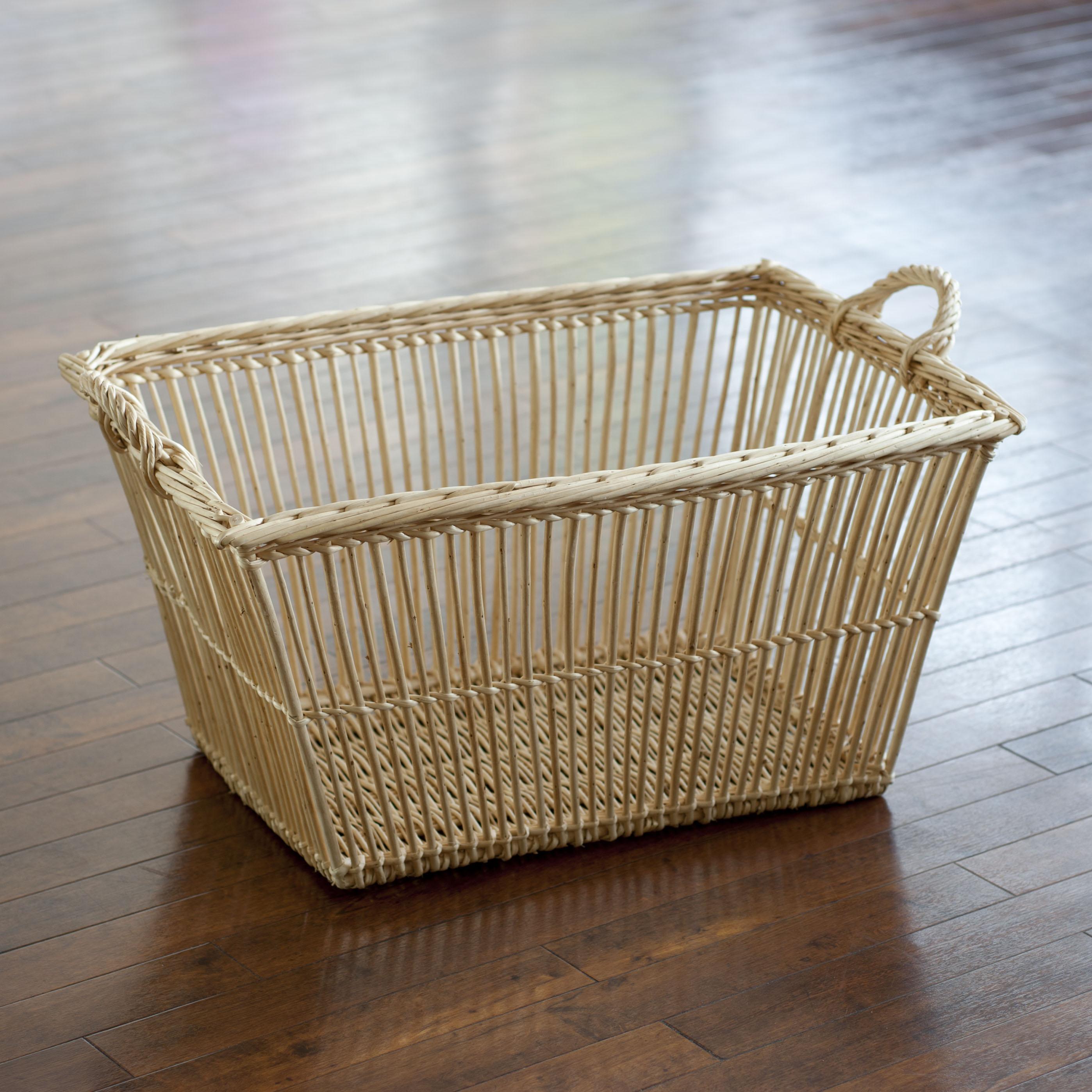 Wäschekorb Holz weiden wäschekorb bei torquato de