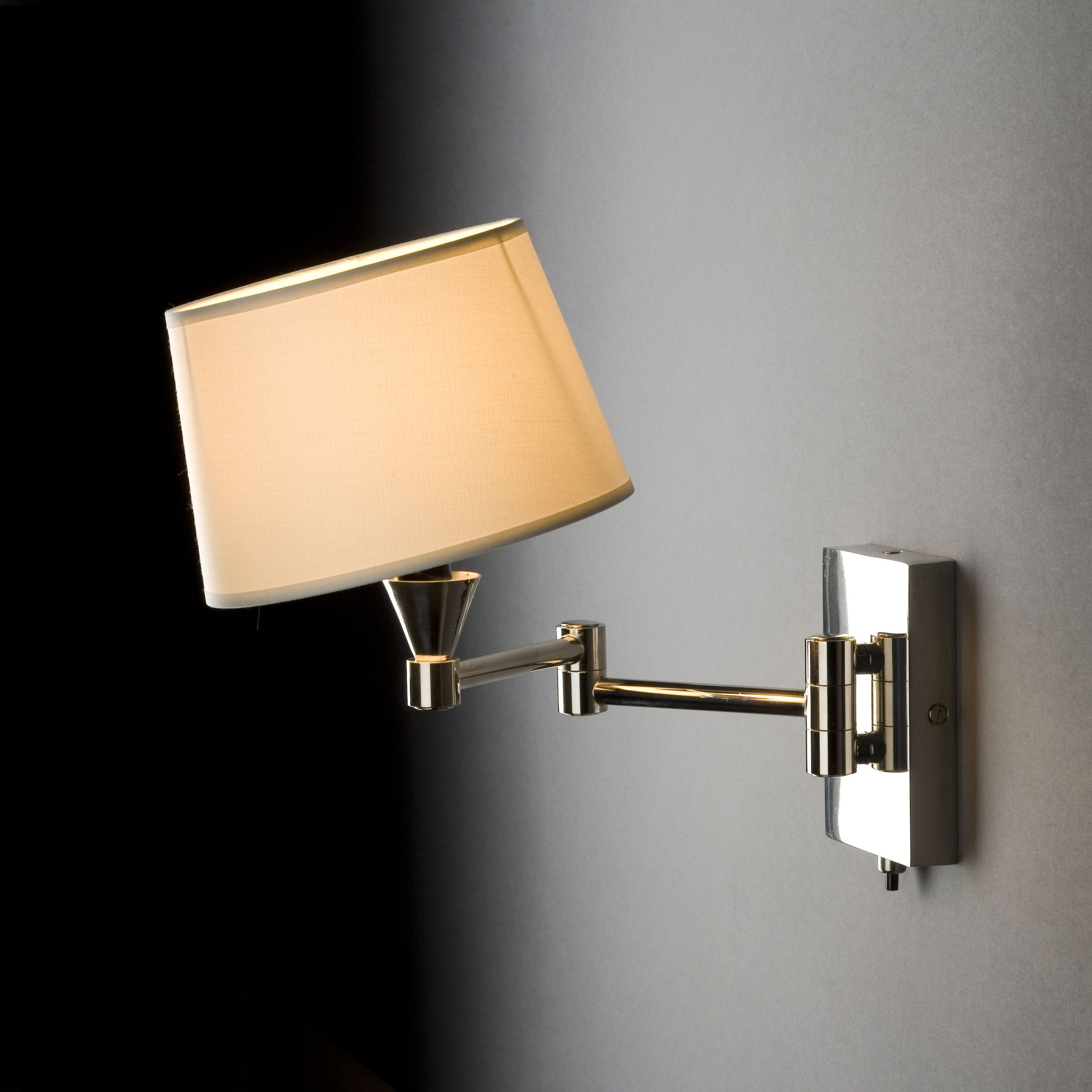 schwenkbare wandleuchte s nickel bei. Black Bedroom Furniture Sets. Home Design Ideas