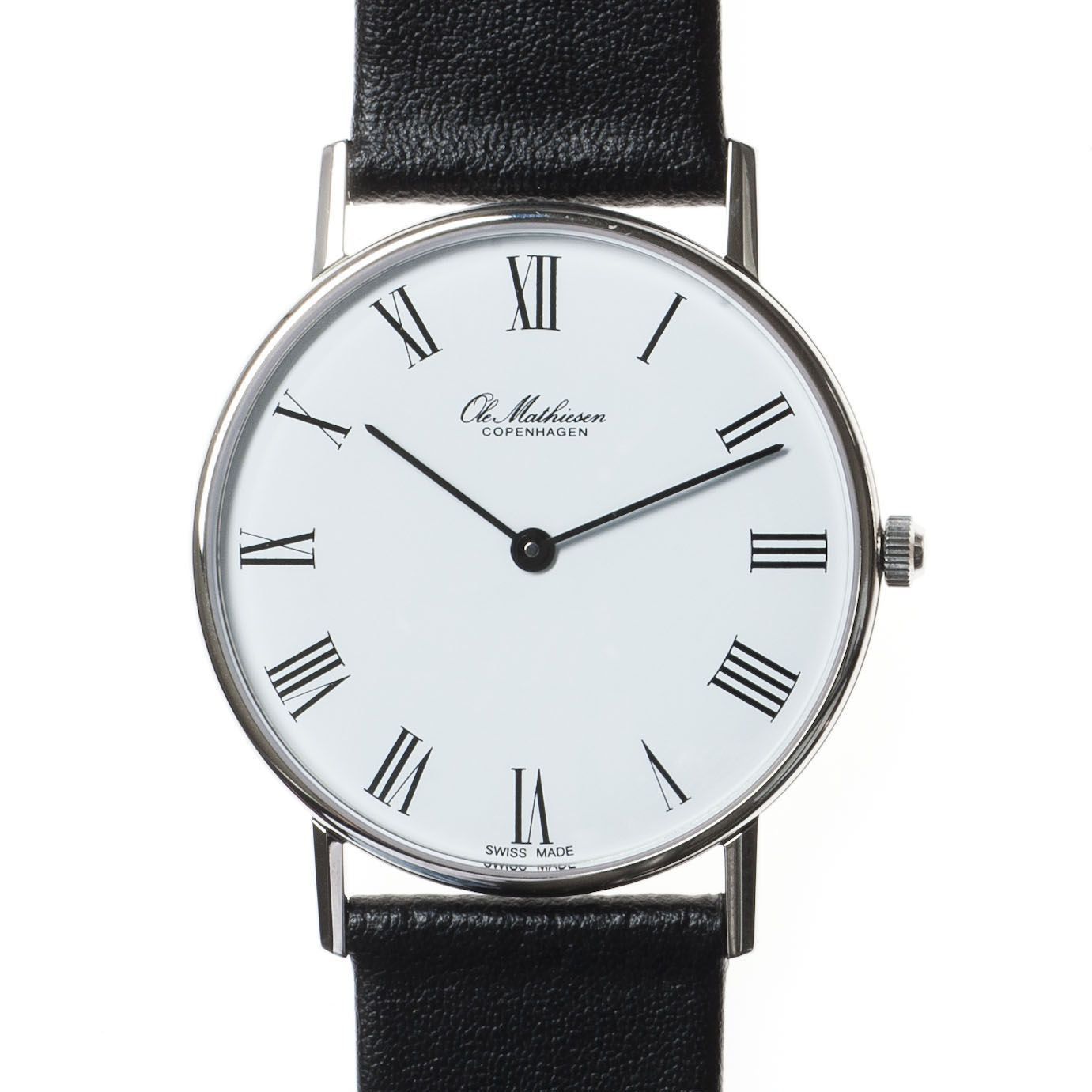 Armbanduhr römische zahlen  Ole Mathiesen Armbanduhr OM1 römisch bei Torquato.de