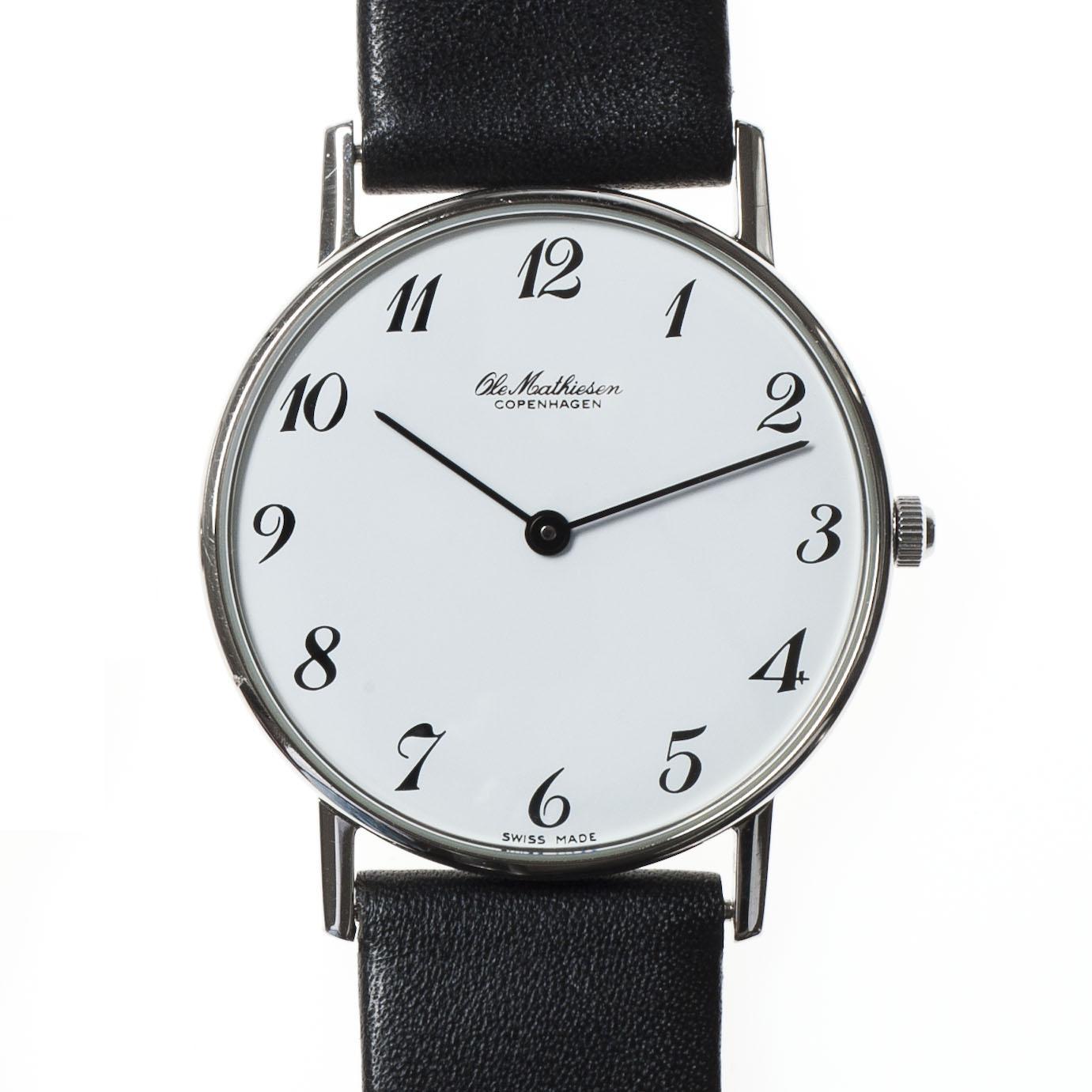 Armbanduhr zeichnung  Ole Mathiesen Armbanduhr OM3 arabisch bei Torquato.de