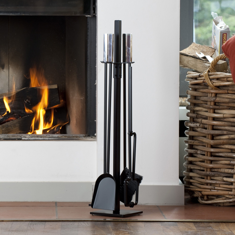 s gi gro es kaminbesteck schwarz bei. Black Bedroom Furniture Sets. Home Design Ideas