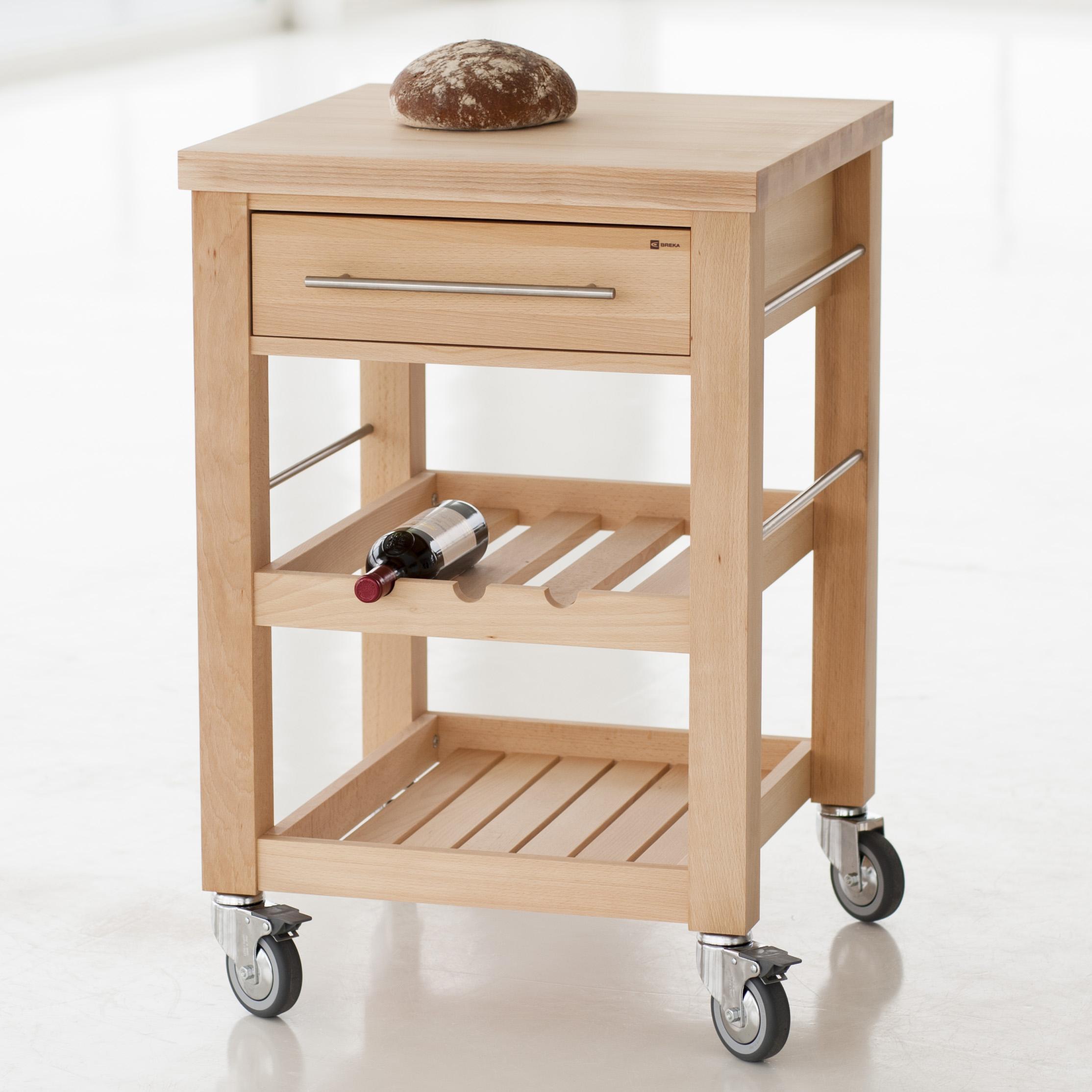 Mobiler Küchentisch Buche 60 Cm Bei Torquato.de