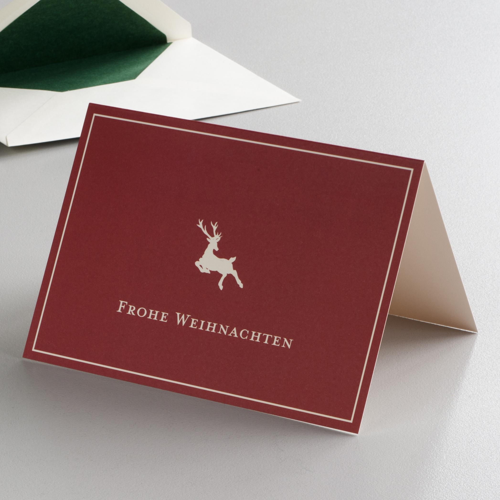 klappkarte frohe weihnachten hirsch bei. Black Bedroom Furniture Sets. Home Design Ideas